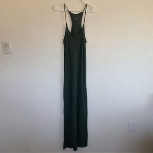Philosophy Olive Green Racerback Maxi Dress Medium